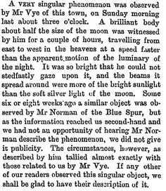 "A ""singular phenomenon"" in the New Zealand skies, 1878."