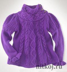 Пуловер для маленькой леди