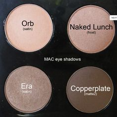 Era is the one I wear on the lid with Smut in the crease Nude MAC Eyeshadows: Orb - light peachy beige, Naked Lunch - soft pink w/ shimmer, Era - light golden beige w/ shimmer & Copperplate - soft matte grey Best Mac Makeup, Love Makeup, Makeup Tips, Makeup Looks, Latest Makeup, Makeup Ideas, Amazing Makeup, Drugstore Makeup, Gorgeous Makeup