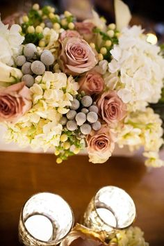 Roses and grapes, Such a romantic centerpiece!