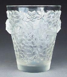 SILENES', A LALIQUE GLASS VASE