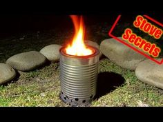 """Stove Secrets - """"Back To The Basics"""". How to make a wood gasifier stove. A highly efficient, compact, and portable wood burning stove that uses natural ma. Group Camping, Camping Gas, Cooking For A Crowd, Food For A Crowd, Wood Gas Stove, Wood Gasifier, Diy Rocket, Portable Stove, Outdoor Stove"""