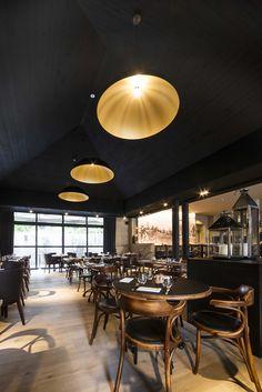 'T KLOOSTER De Pinte WILLE H. interior design #restaurant #DARK lighting #project at De Pinte BE