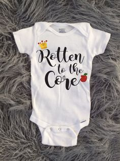 Rotten to the Core - Snow White onesie. Etsy $15.00