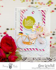 Romantic card-3 - Scrapbook.com- Darling card made using the Me-Ology collection by Fancy Pants