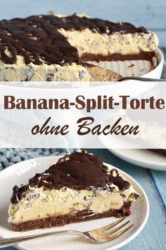 Fun Baking Recipes, Cake Recipes, Dessert Recipes, Sweet Desserts, Sweet Recipes, Banana Split Dessert, Sweets Cake, No Bake Treats, Food Cakes