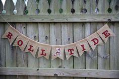 Roll Tide Burlap Banner / Alabama Banner / Roll Tide Banner / Bama Banner / Custom Burlap Banner