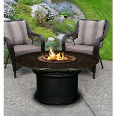 Del Mar Chat Height Fire Pit Table
