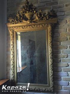 Authentieke antieke spiegel, Overige kunst en antiek, Buggenhout | Kapaza.be
