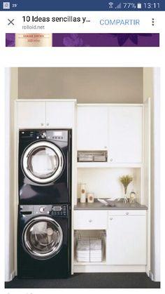 Ideas para ahorrar espacio lavadero.