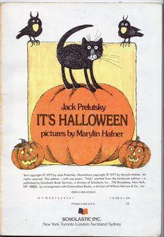 its halloween by jack prelutsky 1977 httpwww