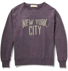 Remi Relief - Printed Washed Loopback Cotton-Jersey Sweatshirt | MR PORTER