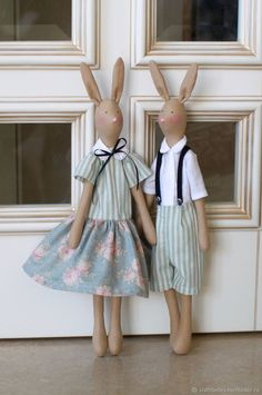 Bunny Tilda girl – shop online on Livemaster with shipping Tilda Dolls handmade. My Livemaster.Easter, gift for easter, tilda easter Doll Clothes Patterns, Doll Patterns, Baby Friends, Crochet Rabbit, Baby Girl Toys, Bunny Outfit, Fabric Animals, Fabric Toys, Sewing Toys