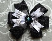 Winter, snowflakes. Hair bow, hair bows, hairbow, hairbows, hair accessories, hair accessory, Bowberry Creations, Boutique bow, bowtique bow, twisted bow, loopy bow, fluffy bow, cheer bow, baptism bow. Beautiful handmade bows. Custom orders welcome. www.etsy.com/shop/bowberrycreations www.facebook.com/bowberrycreations