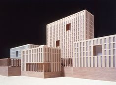 Palace of Justice, Salerno, David Chipperfield Architects Architecture Details, Modern Architecture, Architecture Models, David Chipperfield Architects, 3d Modelle, Arch Model, Urban Fabric, Small Buildings, Facade Design