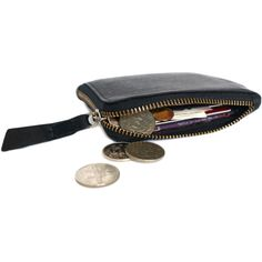 Black Curved Edge Coin Purse (795 UAH) ❤ liked on Polyvore featuring bags, wallets, fillers, wallet, money, object, black coin purse, change purse, black wallet and black bag