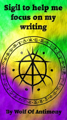 Sigil to help me focus on my writing