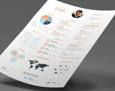 Infographic Resume 02 by DesignGhor on Simple Resume Template, Creative Resume Templates, Design Templates, Resume Tips, Resume Examples, Business Brochure, Business Card Logo, Resume Words Skills, College Resume Template