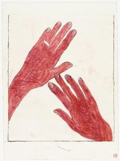 Louise Bourgeois, Hands, 2002 (state III) – drypoint, with hand additions.