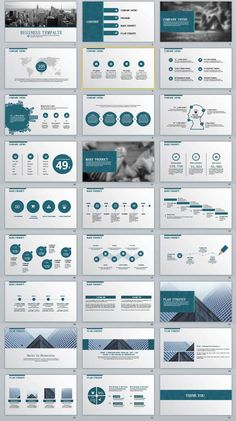 Business infographic : 27-business-report-professional-powerpoint-templates #powerpoint #templates #pre