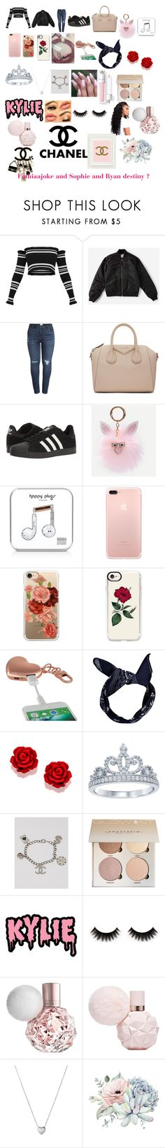 """""""Princesses fathiaajoke and princesses Sophie and princesses Ryan destiny"""" by fathiaajokeanimashaun ❤ liked on Polyvore featuring Everlane, Caslon, Givenchy, adidas, Happy Plugs, Casetify, MixBin, Boohoo, Disney and Chanel"""
