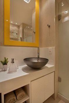 13455- banheiros pequenos com cuba de metal studio eloye freitas