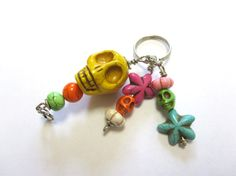 Day of the Dead Skull Pendant Big Daddy Large  by sweetie2sweetie, $14.99