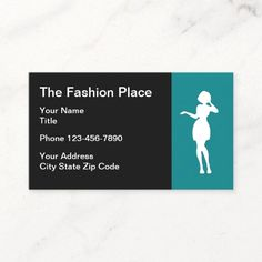 Ladies Fashion or Seamstress Simple Business Card Simple fashionable business card template with image of a fashion lady you can use on our cards for an apparel store or seamstress. #Fashion