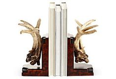 Pair of Antler Bookends  $120.00