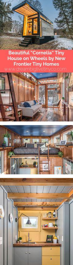 "BEAUTIFUL ""CORNELIA"" TINY HOUSE ON WHEELS BY NEW FRONTIER TINY HOMES"