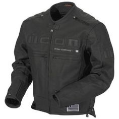 Icon Mens Motorhead Leather Motorcycle Jacket Black Large L 1533-30-04 Ecklund Motorsports