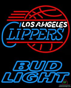 Bud Light Los Angeles Clippers Neon Sign NBA Teams Neon Light