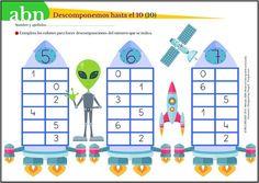 Método ABN. Descomponemos números hasta el 10 con el extraterrestre Miko (III)