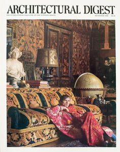 Two of my favourite things in one photo: the great Russian ballet dancer, Rudolf Nureyev, in his Paris home designed by the wonderful weaver of opulent dreams, Renzo Mongiardino Rudolf Nureyev, Diana Vreeland, Architectural Digest, Julie London, Famous Ballet Dancers, Famous Ballets, Margot Fonteyn, House Of Beauty, New Wall