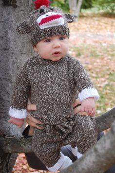 Children's Sock Monkey Costume