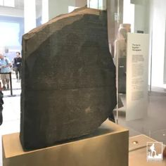 Rosetta Stone Located off the Great Court on the main floor -first artifact most see upon entering Dated from 196 BC, this large granite stone has a decree inscribed in : Greek; hieroglyphs; & demotic Egyptian. In 1799, during Napoleon's campaign he brought art & science experts instructed to seize & study any important cultural artifact found This was unburied by French soldiers. The French had the stone until the British defeated Napoleon's army in Alexandria & took the antiquities