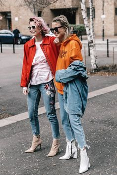 Street style London Fashion Week, febrero 2017 © Diego Anciano - Denim, Boots, and Layers Street Style London, Street Chic, Street Wear, Street Style Inspiration, Inspiration Mode, London Fashion Weeks, Denim Fashion, Look Fashion, Fashion Outfits