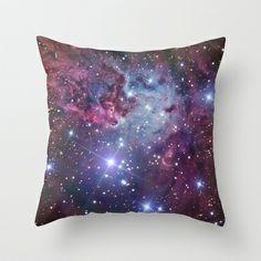 Nebula Galaxy Throw Pillow by RexLambo - $20.00