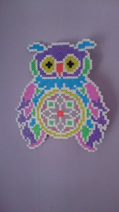 Mini Perler/Hama Bead Owl Dream Catcher by PixelArt698 on Etsy