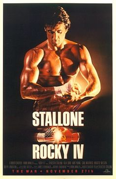 Official theatrical movie poster ( of for Rocky IV Directed by Sylvester Stallone. Rocky Sylvester Stallone, Stallone Rocky, Xmas Movies, Great Movies, Rocky Balboa, Cinema Posters, Film Posters, Blind Test, Brigitte Nielsen