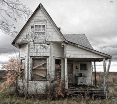 This tiny abandoned old farm house really intrigues me. When a place is abandoned it is for good reason. ........................................................ Please save this pin... ........................................................... Because For Real Estate Investing... Visit Now! http://www.OwnItLand.com