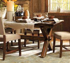 Toscana Fixed Rectangular Dining Table | Pottery Barn