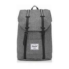 Herschel Retreat Herschel backpack ($66) ❤ liked on Polyvore featuring bags, backpacks, canvas bag, strap backpack, canvas drawstring backpack, padded laptop backpack and laptop rucksack