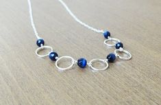 Silver modern necklace earring set Simplistic by FranklyCharming