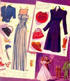 Miss Missy Paper Dolls: saalfield Betty Fields published by Saalfield 1943