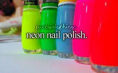 Wish #11: Neon Nail Polish/ Sparkly Nail Polish/A Trip to the Salon :)