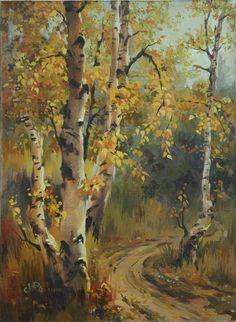 "Ukrainian Artist: Victoria Radionova; Oil 2011 Painting ""A quiet autumn"""