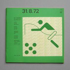 Modern Pentathalon program- designed by Otl Aicher for the 1972 Olympics
