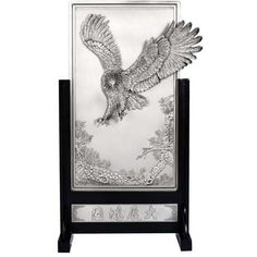 Eagle Plaque, Oriental - The title of this majestic plaque is Riding on the Crest of Success. #pewter #RoyalSelangor