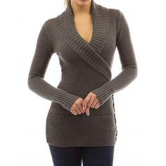 Dropshipping Women's Clothing, wir versenden für Sie | Chinabrands.com Women's V Neck Sweaters, Loose Knit Sweaters, Long Sweaters, Pullover Sweaters, Sweaters For Women, Oversized Pullover, Oversized Sweaters, Cardigans, Womens Fashion Stores